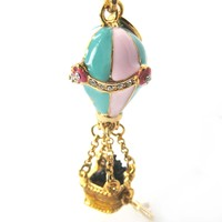 Classic Hot Air Balloon Pendant Necklace | Limited Edition Jewelry
