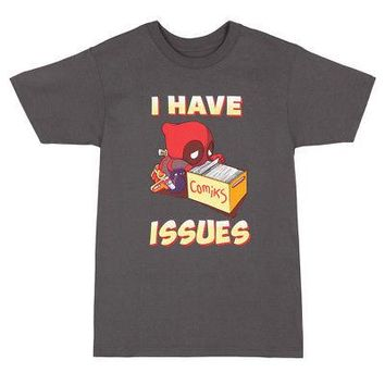 Deadpool I Have Issues Image Marvel Comics Licensed Adult Unisex T-Shirts