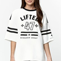 LRG Cult 47 Knit Jersey Crew Fleece - Womens Hoodie - White - Small