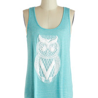 Owl Eyes on You Tank | Mod Retro Vintage Short Sleeve Shirts | ModCloth.com