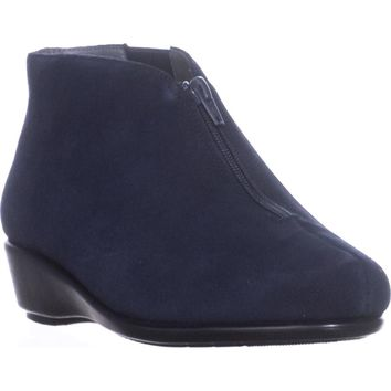 Aerosoles Allowance Wedge Ankle Boots, Dark Blue Suede, 7 W US