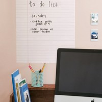 Walls Need Love Dry-Erase Notebook Wall Decal | Urban Outfitters
