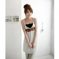 Charming and Practical Wave Lace Hem Prevent Exposing Wrapped Chest