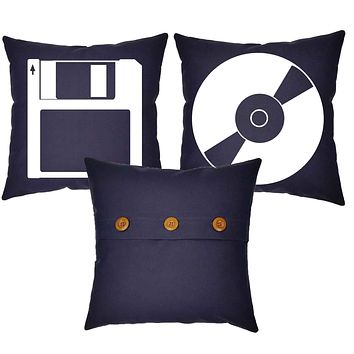 Computer Storage Devices Throw Pillows