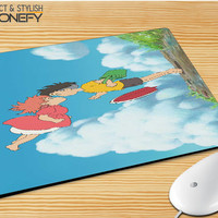 Ponyo On The Cliff By The Sea Mousepad Mouse Pad|iPhonefy