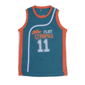 Ed Monix Flint Tropics #11 Throwback Alternate Jersey