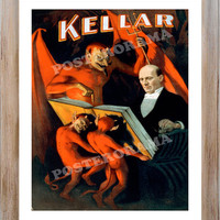 Harry Kellar Let the Devils show you the way POSTER 14 x 20 large magician print