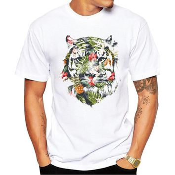 Hiking Shirt Combat Newest Printed Tropical tiger Design T Shirt Men's Hipster Fitness T-shirts Summer Brand Clothing Tops Tees KO_15_1