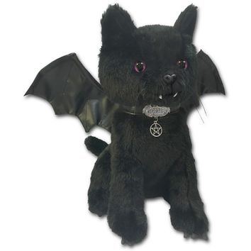 New BAT CAT Winged Collectable Soft Plush Toy 12 inch Shop Online From Spiral Direct, Gothic Clothing, UK