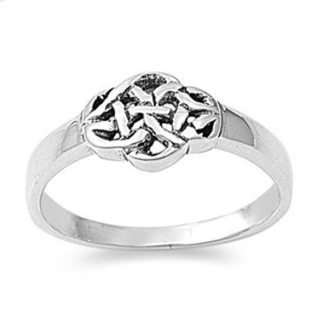 925 Sterling Silver Wicca Celtic Thread Ring