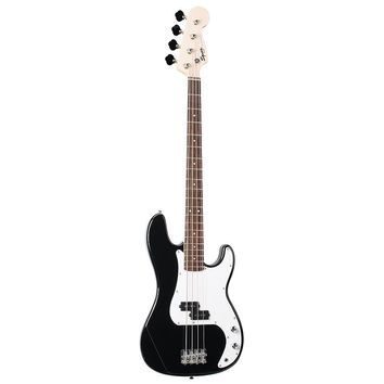 Squier by Fender Bullet Precision Electric Bass Guitar (Black)