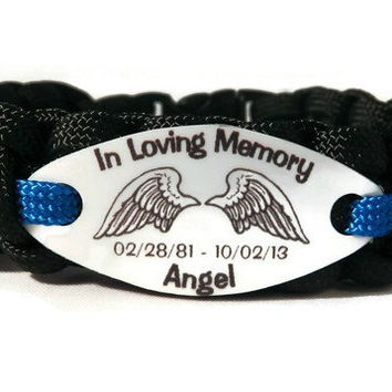 Angel Wings Memorial Bracelet