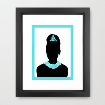 For Audrey Framed Art Print by Miss Golightly | Society6