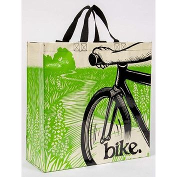 Bike Path Shopper Bag in Recycled Material