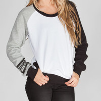 Fox Prestigious Womens Sweatshirt White/Grey  In Sizes