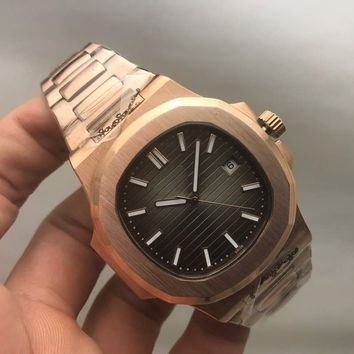 My_TimeZone Luxury brand top high best quality Swiss Automatic Gold/Brown model watch
