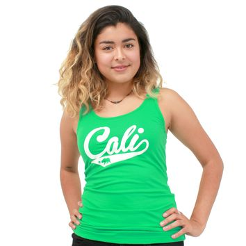 Cali Logo Fitted Tank Top