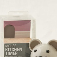 Aerie Women's Kikkerland Mouse Kitchen Timer (Silver Steel)