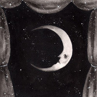 Celestial Theater: Man In The Moon - PRINT 6 x 6 from Dark Town Sally