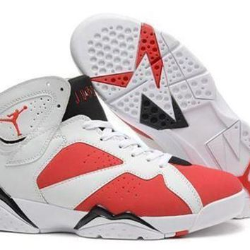 Cheap Air Jordan 7 Retro Men Shoes White Red Black