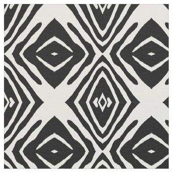 Tribal Ink Blot Fabric Pattern By Juul