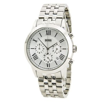 Hugo Boss 1512571 Men's Silver Dial Stainless Steel Bracelet Chrono Watch