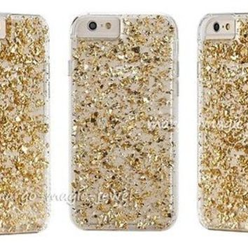 cover case fits iPhone models,gold,golden flakes,24K,sparkle,sparkly,gift,new