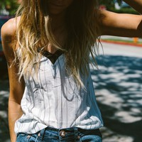 Striped Lacey Camisole