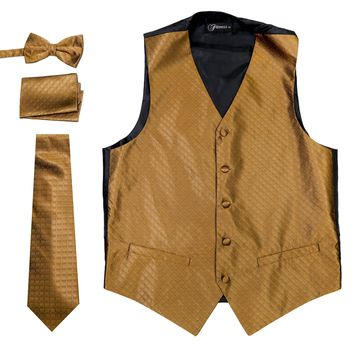 Ferrecci Mens 300-12 Brown Diamond Vest Set