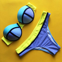 Women Push Up Triangl Swimwear Bikini Two Piece Swimsuit Bikini Set