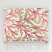 Pink & Gold Branches iPad Case by Cat Coquillette