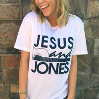 Jesus And Jones Tee - White