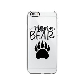 Mama Bear Clear Transparent Plastic Phone Case Phone Cover for Iphone 6PLUS_ SCORPIOshop (iphone 6PLUS)