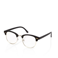 Classic Browline Readers Black/Gold One