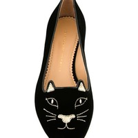 Charlotte Olympia 'kitty' Slippers - Cumini - Farfetch.com