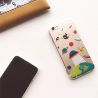 On Sale Stylish Cartoon Cute UFO Astronaut Spaceship Case [6307525252]