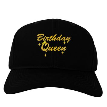 Birthday Queen Text Adult Dark Baseball Cap Hat by TooLoud