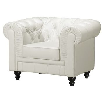 Zuo Aristocrat Armchair in White
