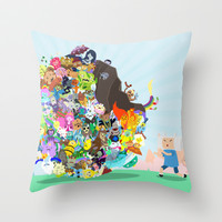 Adventure Time - Land of Ooo Katamari Throw Pillow by Sin Nombre
