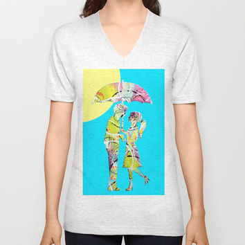 Sunshine Unisex V-Neck by JuniqueStudio