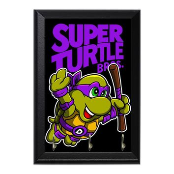 Super Turtle Bros Donnie Decorative Wall Plaque Key Holder Hanger