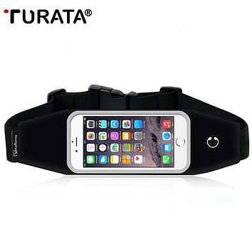TURATA Universal Waterproof Sport GYM Waist Bag Phone Case For iPhone 6 6S Plus SE 5 Outdoor Workout Running Pouch Accessories