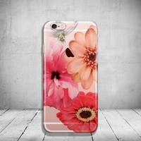 Floral iPhone 6 Case Clear iPhone 6s Case Clear iPhone 6 Plus Case iPhone 5s Case iPhone 6s Plus Case Soft Silicone iPhone Case