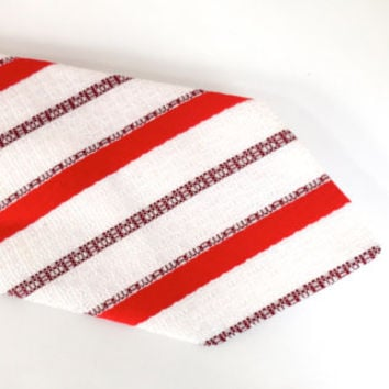 Candy Cane Red Striped Tie