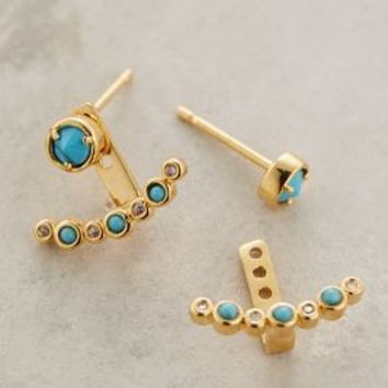 Nalu Posts by Anthropologie in Turquoise Size: One Size Earrings