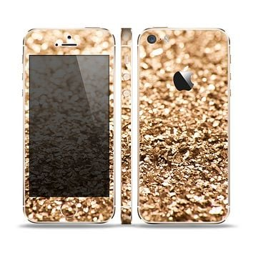 The Gold Glimmer V2 Skin Set for the Apple iPhone 5s