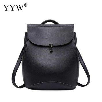 University College Backpack YYW Women Leather  Vintage  Student School  Bags for Teenagers Vintage Mochila Casual Rucksack DaypackAT_63_4
