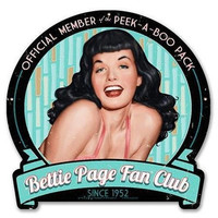 Retro-a-go-go! Bettie Page Fan Club Metal Sign