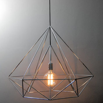 Diamond Himmeli light pendant geometric silver lamp