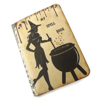 Halloween Spell Book Goth Journal Mini Witch by Istriadesign